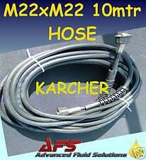 """10 MTR PRESSURE WASHER HOSE M22 1/4"""" POWER JET WASH"""