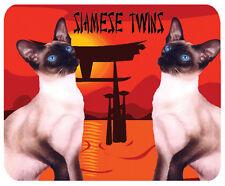 Siamese Gatto Tappetino mouse, Siamese TWINS.