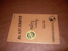 CATERPILLAR CAT 435 TRACTOR SCRAPER PARTS CATALOG MANUAL S/N 45D1-UP