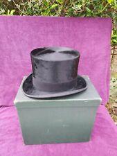 Classic Vintage Antique Christy's of London Top Hat Silk Victorian Wedding c1890
