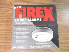FIREX SMOKE ALARM 120V MAPLE CHASE #4418 SKYLINE DESIGN