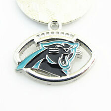 10ps Carolina Panthers USA Football NFL Team Logo Floating Dangle Charms Jewelry