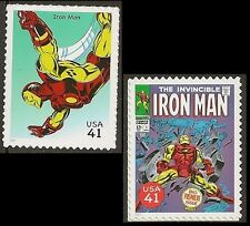 US 4159h 4159r Marvel Comics Super Heroes Iron Man 41c 2 stamps MNH 2007