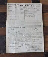 1941 ORDER  BLANK USED PONTIAC SEDAN WITH A 1931 ESSEX TRADE IN - GIL CHEVROLET