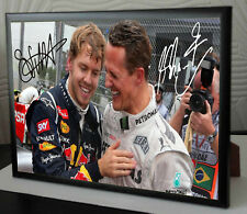 "Sebastian Vettel Michael Schumacher  Canvas Print Signed ""Gift"""