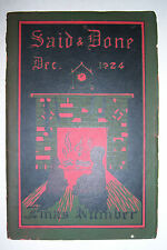 SAID & DONE magazine December 1924, Muskegon High, Hackley Training School.