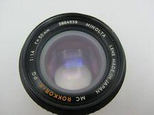 Minolta MC Rokkor-X PG F1.4 50mm MD Mount Lens For SLR/Mirrorless Cameras