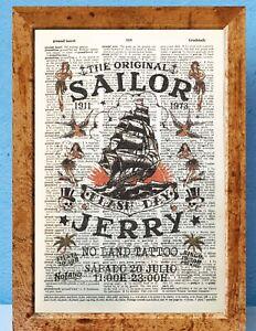 Sailor Jerry Tattoo Print Oversized Cashmere Scarf Shawl Wrap Winter Warm For Women 77x27 inch