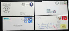 US Postage Set of 4 US Covers Letters Holographic Stamp 25c USA Briefe (H-8417+