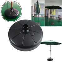 Outdoor Patio Yard Garden Round Water Sand Fillable Umbrella Base Stand Holder