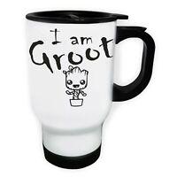 I am groot White/Steel Travel 14oz Mug dd961t
