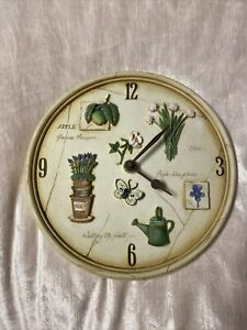 kitchen wall clock Country Cottage Style Flowers Gardening
