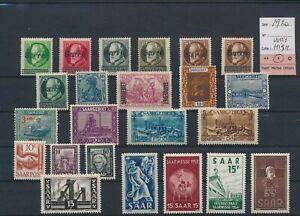 LO66581 Germany 1920 Saar mixed thematics fine lot MH