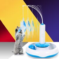 Pet Feather Funny Interactive Electric Multifunction Cat Toys Teaser Accessories