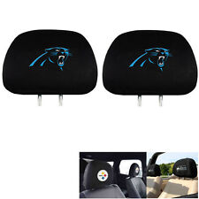 New Team ProMark NFL Carolina Panthers Head Rest Covers For Car Truck Suv Van