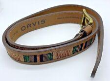 Orvis Men's Blanket Striped Inlay Belt Size 38