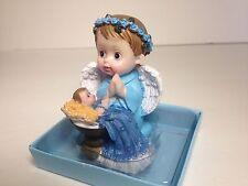12-Baby Shower Baptism Angel Boy Favors Decorations Recuerdos Niño Table Blue
