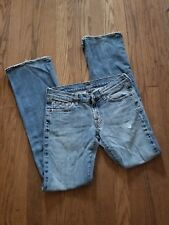 7 for all of mankind Women's Jeans 28 Boot cut distressed Light wash