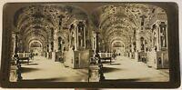 Libreria Vaticano Roma Italia Foto Stereo Vintage Analogica 1903