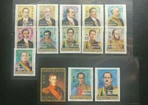 Bolivia 1975 South America Bolivian Presidents & Statesmen fine lot of 14 MNH