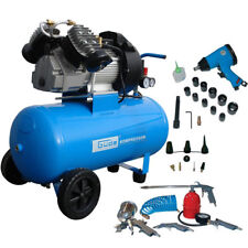 Güde Kompressor 400/10/50 inkl. Druckluftset 26-teilig 2,2 KW 2- Zylinder 10 bar