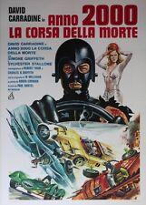 """CANNONBALL"" Affiche italienne entoilée (David CARRADINE, Sylvester STALLONE)"