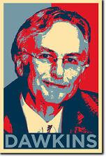 Richard Dawkins Arte Foto Print (Obama esperanza) Afiche Regalo El Ateísmo Biología