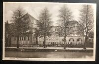 1931 Leiden Netherlands RPPC Real Picture Postcard Cover National Library