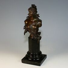 Classic Bronze Bust of a Female by German Sculptor Franz Iffland (1862-