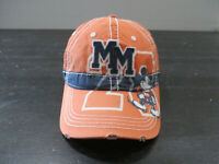 Disney Mickey Mouse Hat Cap Strap Back Orange Blue Adjustable Theme Park Mens