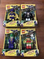 4x LEGO Ledlite Batman Key Ring LEGO Batman Led Lite