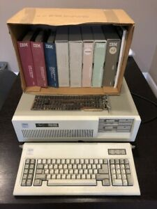IBM PC AT 5170 Complete with Orchid Video Math Co-Processor and Library 512K