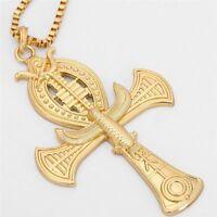 Ancient Ankh Cross Eagle Snake Pendant Horus Egyptian Jewelry Men Necklace