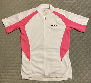 Luis Garneau Womens Size S/P White Full-Zip 'Olivenza' Cycling Jersey