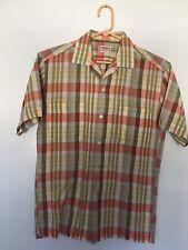 Beautiful Vintage McGregor Loop Collar Mens Button Up Shirt Size S Smallt