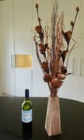 Copper floral Display in Free wood vase Conservatory Gift weddings