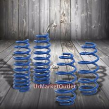 "Blue 2"" Drop Manzo Race Sport Lowering Spring Coil Kit For 03-08 Mazda 6 3.0L V6"
