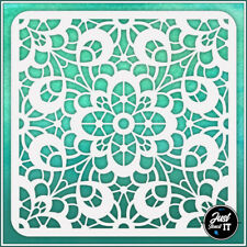 Seamless Floral Lace #1 - durable and reusable stencil for DIY painting & crafts