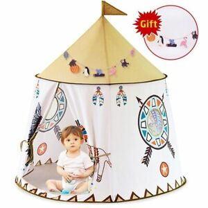Tent House 123*116c YARD Kid Teepee Portable Princess Castle Present For Kids
