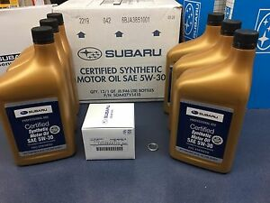 Genuine SUBARU Oil Change Kit Filter Gasket 6 Qts Synthetic 5W30 Turbo WRX 15-19