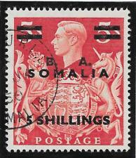 Brit. Occ. Italian Colonies (Somalia) 1950 5/- on 5/- Red SG S31 (Fine Used)