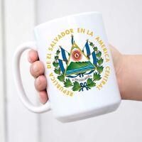 El Salvador Coat Of Arms Funny Cup White Ceramic Coffee Mug Tea Cup Fun Novelty