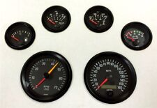 6 Gauge set, VDO genuine gauges, Speedo,Tacho,Oil,Temp,Fuel,Volt, black / black