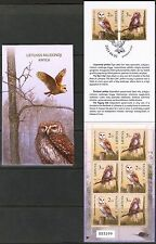 {L} Lithuania 2014 Red Book Birds Owls Booklet MNH** issued 5000 psc.