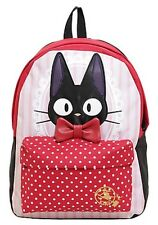 Studio Ghibli Kiki's Delivery Service Jiji Polka Dots Backpack School Book Bag