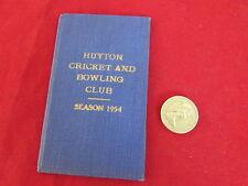 Huyton Cricket & Bowling Club 1954 ORIGINALE membri BIGLIETTO & dispositivo CARD
