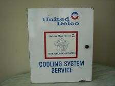 Original United Delco Cooling System Service Harrison Thermostats Parts Cabinet