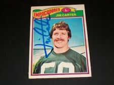 Packers Jim Carter Auto Signed 1977 Topps Mexican #287