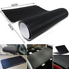 2m 3D Carbon Fiber Vinyl Wrap Sticker Roll Film Decals Car Home Wallpaper Black