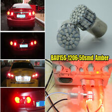 4x Amber Yellow 50 LED 1206 Bulbs BAU15S Front Indicator 581 PY21W Turn Signal